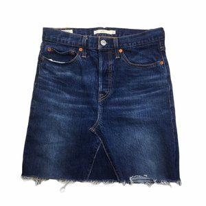 LEVI'S Wedgie Dark Wash High Waist Denim Skirt 27